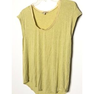 Anthropologie Bordeaux chartreuse tee Size large